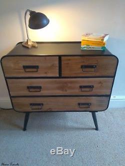 Vintage Retro Urban Industrial Drawer unit / Sideboard/ Chest Wood & Metal