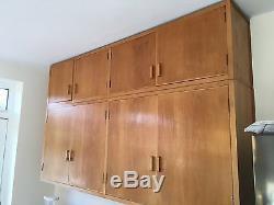 Vintage Retro Wooden Kitchen Cabinets & Drawers