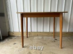 Vintage Retro Yellow Formica Dining Kitchen Table Uk Delivery Available