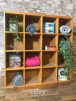 Vintage School Pigeonholes, Solid Wood, Lockers Bookshelves Storage Shoes Books