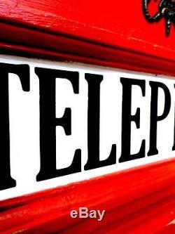 Vintage Storage Unit, Retro Vintage London Phone Box, CD Storage Unit, Retro Unit