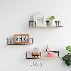 Vintage Style Metal Wall Shelf Unit Kitchen Bathroom Storage Basket Spice Rack