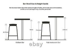 Vintage Style Oak Lab Stools Bar Stools Breakfast Bar Stools School Stools
