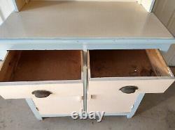 Vintage Swedish Large Free Standing Kitchen Dresser Cupboards Drawers Larder