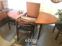 Vintage Teak Table And Four Chairs Extending Kitchen Dining Danish Retro G Plan
