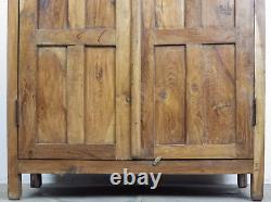 Vintage Teak Wood Rustic Housekeepers Kitchen Cabinet Cupboard (REF576)