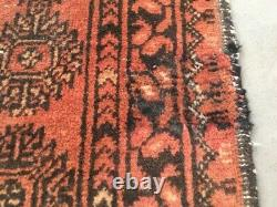 Vintage Traditional Hand made Oriental Afghan Bokhara Wool Red Large Rug Carpet