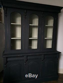Vintage display cabinet bookcase kitchen larder shop display housekeepers
