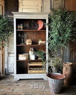 Vintage hand painted open bookcase