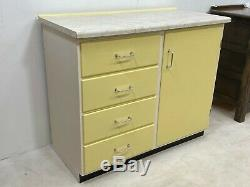 Vintage mid century 1950's restored kitchen cabinet sideboard unit with worktop