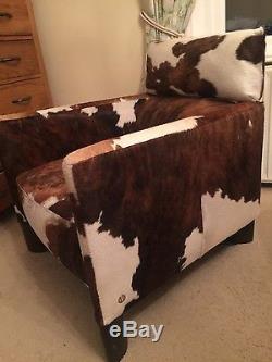 Vintage natuzzi (genuine) pony hide armchair retro mid century