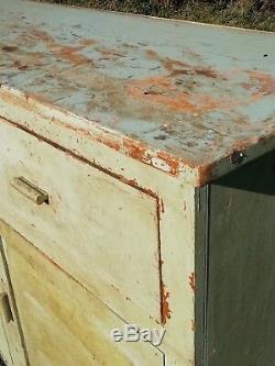 Vintage retro 1960's Kitchenette Kitchen Unit sideboard cupboard drawers pine