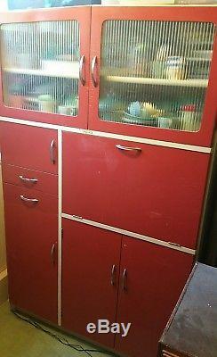 Vintage retro antique kitchen cabinet cupboard dresser larder 1950s 1960s Hygena