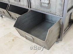 Vintage retro industrial drawer cabinet unit