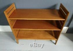 Vintage retro mid century bookcase bookshelf Ladderax tv media unit freestanding