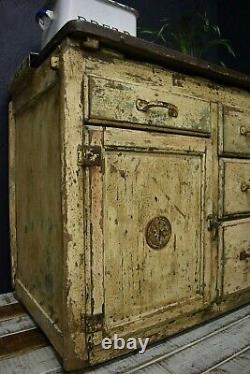 Vintage rustic larder cupboard Original Paint 1930s