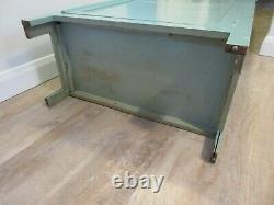 Vintage shabby chic tall pale blue wooden kitchen bedroom linen cupboard cabinet