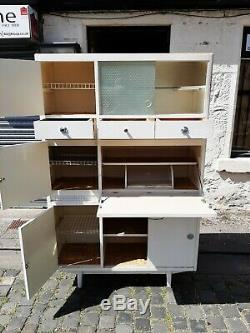 White Vintage Kitchen Cabinet Unit Larder Pantry Cupboard Retro 1950s /60s