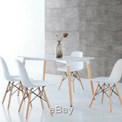 120x80cm De Table Pieds En Bois De Style Vintage Blanc Salle À Manger / Salon Nouveau