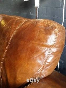 15 Chesterfield Vintage 3 Places Cuir Marron Club Marron Corner Suite Courrier Av