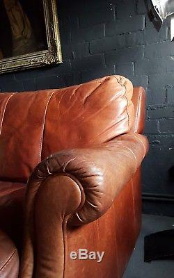 162 Chesterfield Vintage 2 Places Leather Club Suite D'angle Courier Av