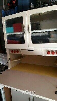 1950 1960 Retro Vintage Kitchen Dresser Cabinet Unité Larder Garde-manger Armoire