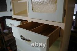 1950 Retro Vintage D'armoires De Cuisine Meuble De Rangement Excellente Condition Restauré