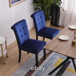 1/2 Pcs Salle À Manger Velours Chaise Avec Heurtoir / Ring Back Chaise À Dîner Cuisine Chambre
