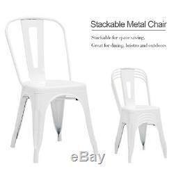 1-4x Tolix Chaise De Style Métal Dining Chair Chaise Bistro Kitchen Cafe