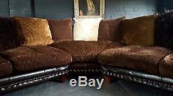 2072 Rare Canapé D'angle Degas Tetrad Canapé Vintage 5 Places Chesterfield En Cuir