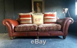 2110. Superbe Canapé 3 Places Tetrad Eastwood Grande D'époque Chesterfield Courier Av