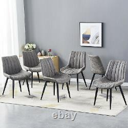 2/4/6 Grey Retro Slope Dining Chairs Curved Seat Black Legs Living Kitchen Room 2/4/6 Grey Retro Slope Dining Chairs Curved Seat Black Legs Living Kitchen Room 2/4/6 Grey Retro Slope Dining Chairs Curved Seat Black Legs Living Kitchen Room 2