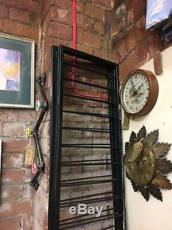 2 Appliques Murales Ladderax Vintage Retro MID Century Staples En Métal Noir Et Teck