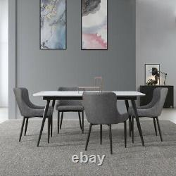 2 × Chaises À Manger Velvet Faux Leather Chairs Brown / Grey Dining Room Restaurant