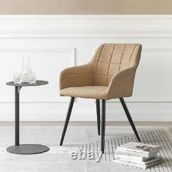 2x Fauteuil Chaises À Manger Velvet Padded Seat Dining Room Kitchen Restaurant