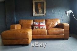 336 Chesterfield Vintage 3 Places Cuir Marron Club Marron Suite D'angle Courier Av