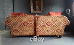 398. Grand Canapé Chesterfield Vintage En Cuir Tetrad 2 Places Rrp £ 1850