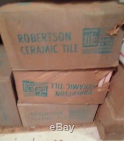 42 Pcs. Vintage Pomme Verte Céramique Mudd Bullnose Carreaux Par Robertson Co. Nos