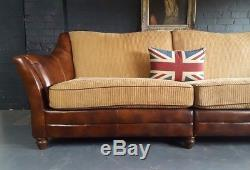 449. Grand Canapé Chesterfield Vintage Chesterfield 3 Places En Cuir Rrp £ 1900
