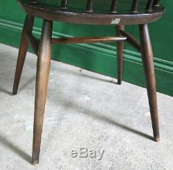 4 Chaises De Salle À Manger Ercol Goldsmith Vintage, Dark Elm, Retro, Cuisine, MID Century