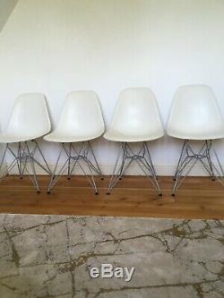 4 Véritable Charles Eames Dsr Chaises Pour La Salle À Manger Cuisine Vintage Vitra
