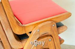 4 X MID Century Modern Beech Stacking Ben 50 Rétro Vintage Chaises De 60 Kitchen