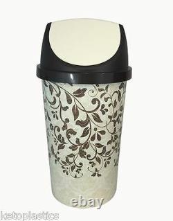 50l Balancez Bin, Cuisine Bin, Rétro, Style Vintage Conception Florale Shabby Chic
