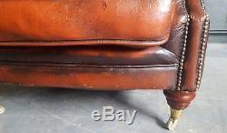 572. Chesterfield Vintage Thomas Lloyd Club Fauteuil En Cuir Courier Av