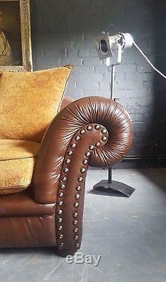 585. Tetrad Vintage Chesterfield 2 Places En Cuir Canapé Club Courier Av
