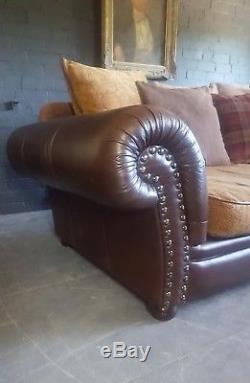 586. Tetrad Vintage Chesterfield 4 Places En Cuir Canapé Club Courier Disponible