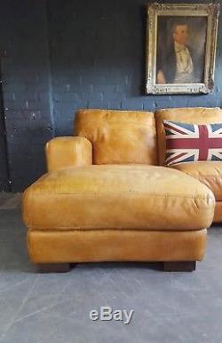 601 Chesterfield Vintage 3 Places En Cuir Light Tan Club Corner Suite Courrier