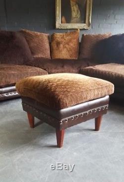613. Chesterfield Tetrad Degas Vintage Cuir Club Marron Suite D'angle Courier
