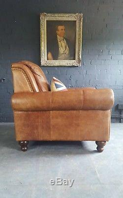 622. Chesterfield Vintage Fauteuil En Cuir Club Club Disponible