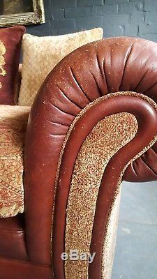 652. Cleveland Tetrad Vintage Canapé 4 Places En Cuir Et Chenille Pvc 7595,00 €